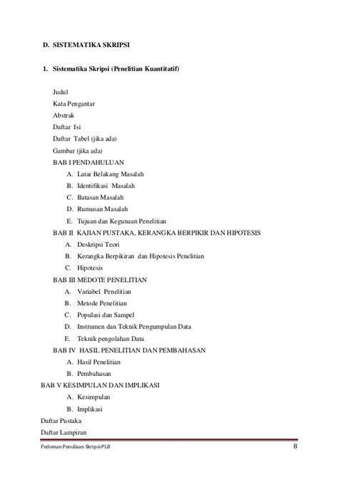 penulisan daftar pustaka laporan prakerin draft pedoman penulisan skripsi dan makalah