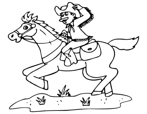 cowboy coloring pages for kids az coloring pages