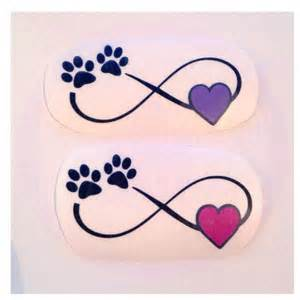 Paw Print Infinity Infinity With Paw Print And Decal Many Color Options