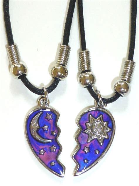 new best friend half mood sun moon pendants 2