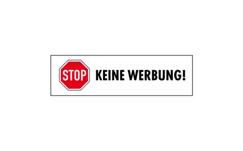 Aufkleber Keine Werbung Wo Kaufen by Stop Keine Werbung Aufkleber 2 Kaufen 187 Wezet