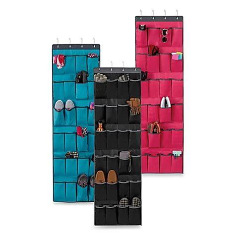 familife 24 pockets the door the door 24 pocket shoe organizer bed bath beyond