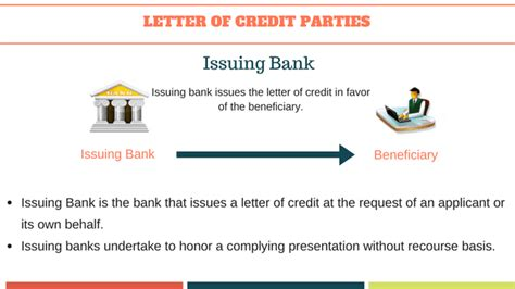 Letter Of Credit Without Recourse To Drawer letter of credit basics to letters of credit