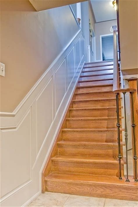wainscoting panels up stairs 17 best images about wainscoting stairs on