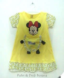 Stelan Muslim Bayi Karakter Minie Mouse 4 8bln Available 3 Color si centil dress minie mouse putri busana