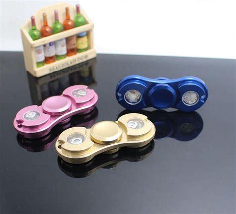 Spinner Led Black 7cm e smarter colorful luminous fidget stress relief spinner