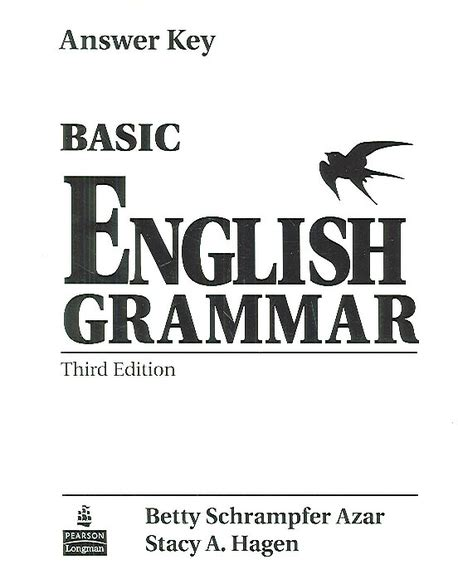 Basic Grammar 3rd Edition With Answer And Audio Cd basic grammar 3rd edition answer key by betty schrfer azar and a hagen on