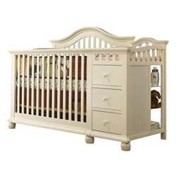 Baby Crib And Changer Sorelle Cape Cod 4 In 1 Convertible Combo Crib In White 1091 Fw