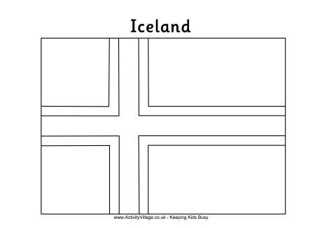 iceland colouring flag