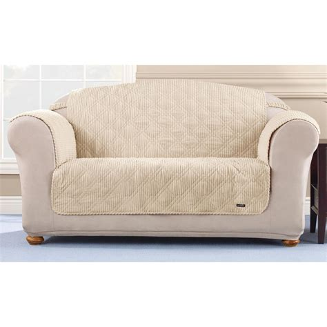 loveseat and couch covers sure fit 174 quilted corduroy loveseat pet cover 292845