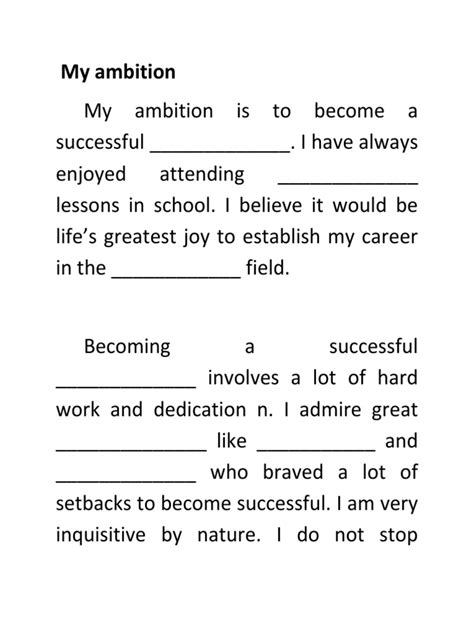 My Ambition In Essay by Ambition Essay Essays Of Ambition Ayucar
