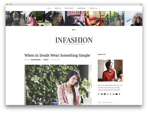 blog themes design 10 best fashion blog wordpress themes 2018 all template