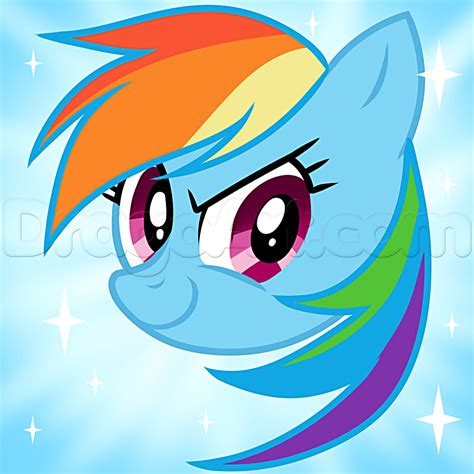 The Easy Way To Be A Dashing 2 by How To Draw Rainbow Dash Easy Step By Step
