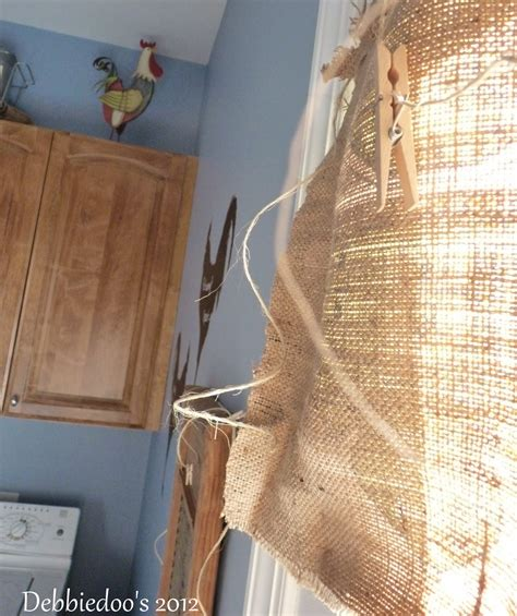 burlap curtains diy burlap diy curtains debbiedoos