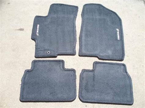 genuine oem   mazda black carpet floor mats  logo ebay