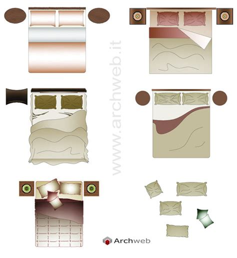 letto singolo dwg bed drawings