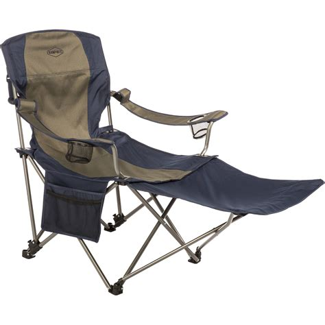 Ozark Trail Chairs With Footrest by K Rite Folding Chair With Removable Foot Rest Cc231 B H