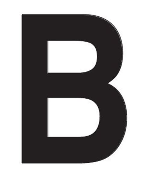 single letter 3 quot glossy boat decal individual single letter b white 10