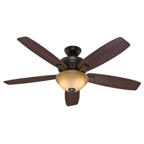 hunter fan light switch 54 quot hunter premier bronze ceiling fan toffee glass light