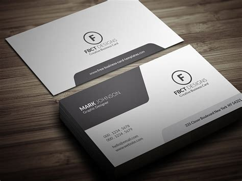 Minimalistic Business Card Template Free by Clean Monochrome Business Card Template 187 Free