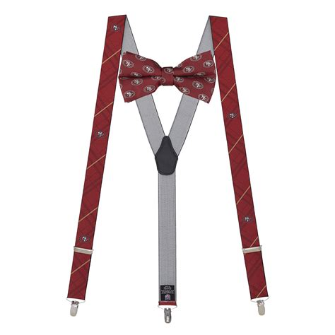 san francisco 49ers suspender bow tie set suspenderstore
