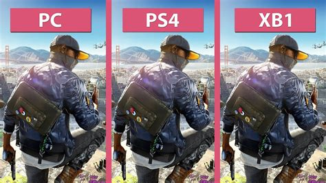 dogs 2 xbox one dogs 2 pc ultra vs ps4 vs xbox one graphics comparison