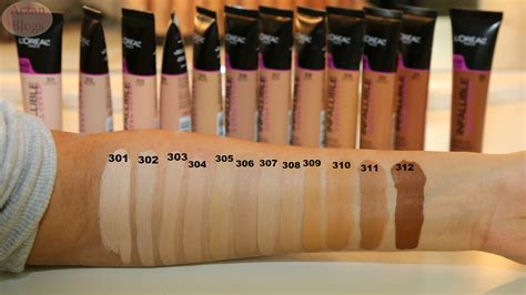 l shades l oreal total cover foundation shade reference