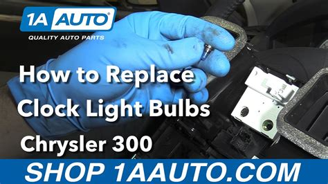 how to replace the light bulb in your climate controls youtube how to replace install clock light bulbs 2006 chrysler 300 youtube