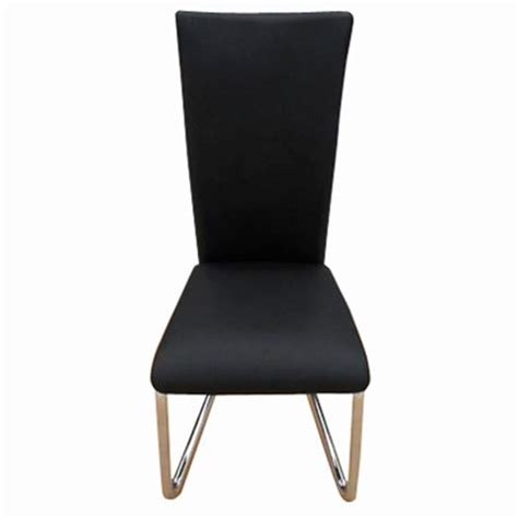 6 Pcs Artificial Leather Iron Black Dining Chair Vidaxl 6 Black Dining Chairs