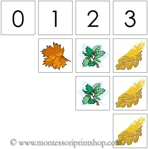printable leaves with numbers 0 to 10 numbers counters leaf printable montessori math