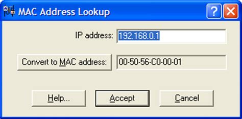 Nic Mac Address Lookup Addresses