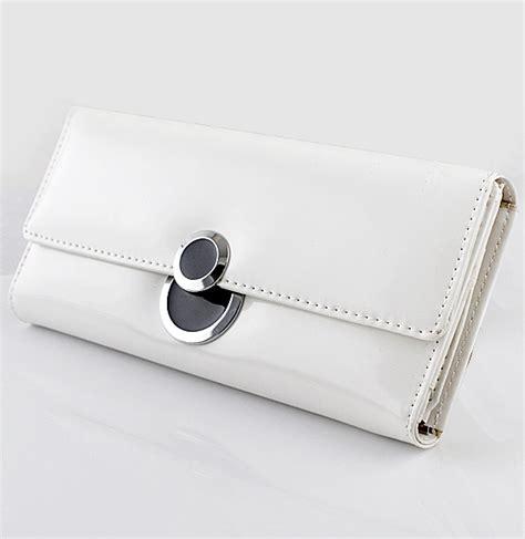 White Clutch white pu leather clutch bag sheinside