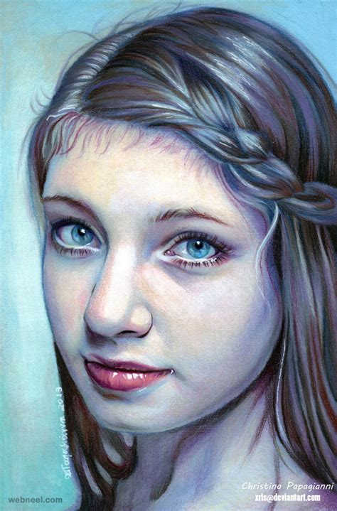 colored pencil portraits hyper realistic color pencil drawing by papagianni 7