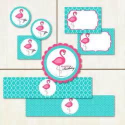 pink flamingo birthday printable party set flamingo