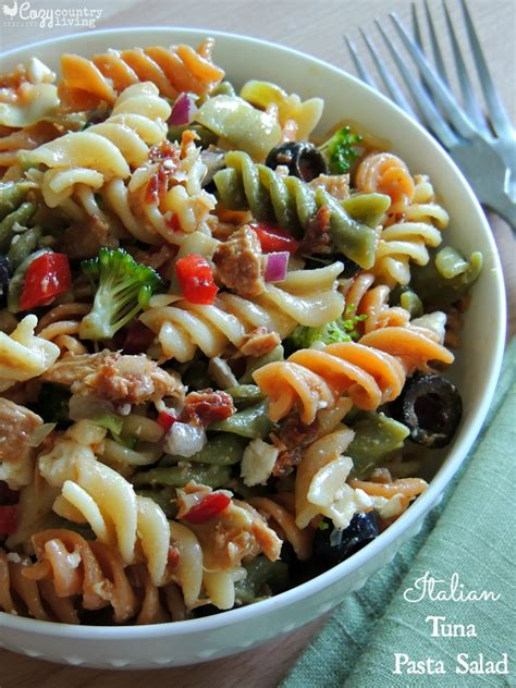 Pesto Pasta Salad Recipe Italian Tuna Pasta Salad