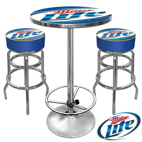 Miller Lite Bar Stools And Table ultimate miller lite gameroom combo 2 bar stools and table