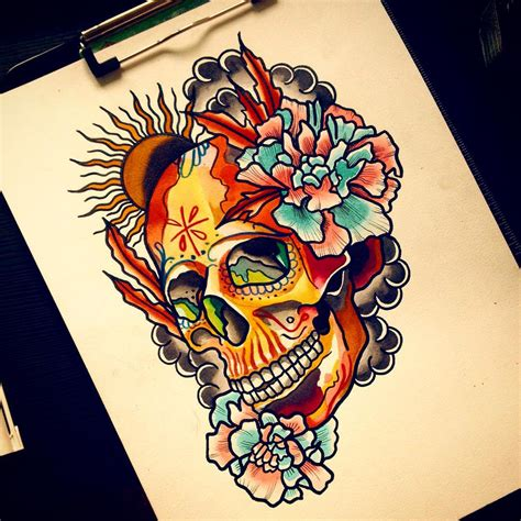 mexican skull tattoos designs 125 best sugar skull designs meaning 2018