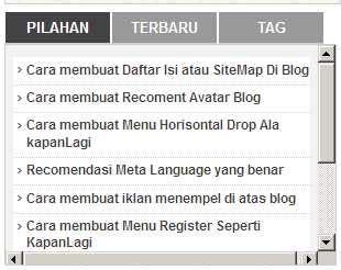 membuat menu html css cara membuat menu 3tab tanpa css di blog facewoman blogspot