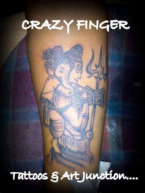 tattoo shiva and ganesha lord shiva ganesha trishul tattoo nilesh crazy