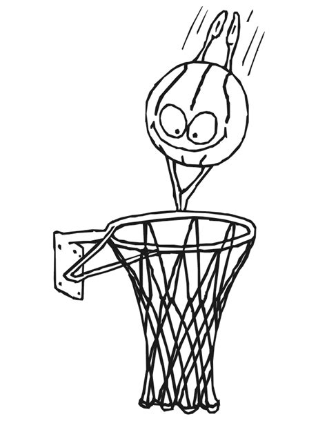 basketball net coloring pages free coloring pages of basketball hoop