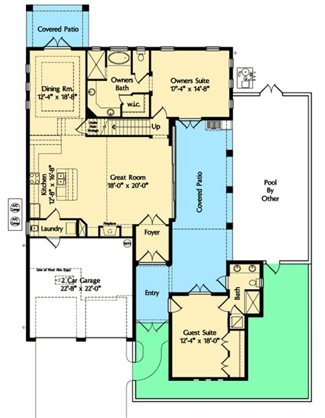 casita home plans separate guest casita 42832mj 1st floor master suite