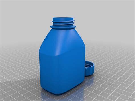 Vorlagen 3d by 3d Vorlage Flasche Und Deckel Chip