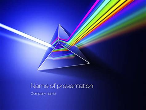 light dispersion presentation template for powerpoint and