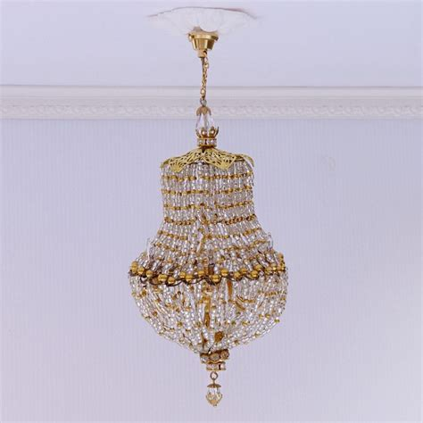Dollhouse Chandelier Dollhouse Miniature Handmade Chandelier Light Scale 1 12th L135