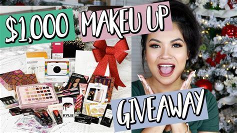 Huge Makeup Giveaway - huge makeup giveaway what i want for christmas 2017 belinda selene youtube