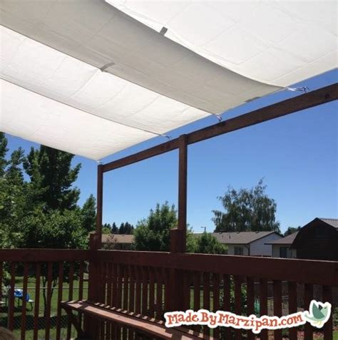 diy deck awning made by marzipan