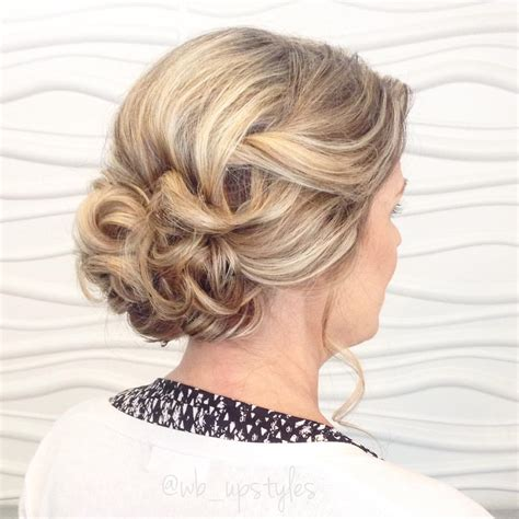 soft updo hairstyles for mother s mother of the bride upstyle she wanted something loose