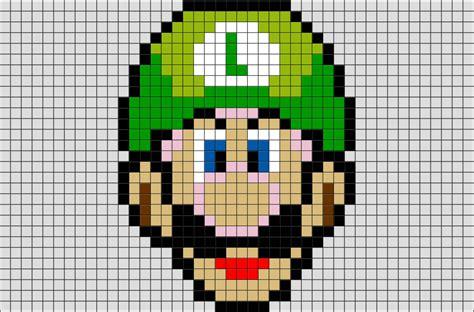 Famous Characters In Pixel Art Mario And Luigi   luigi pixel art brik