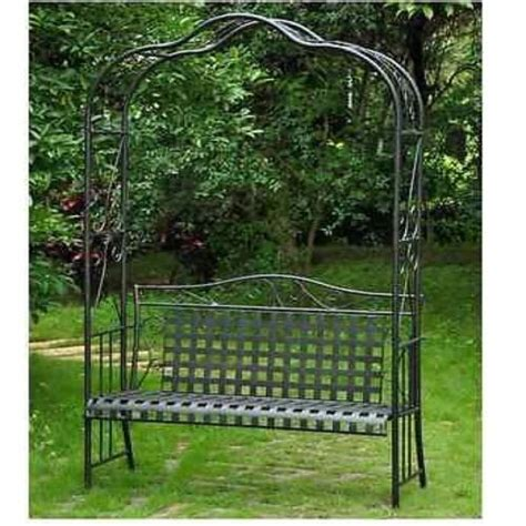 Metal Garden Arbor Bench Wrought Iron Arbor Bench Trellis Garden Patio Outdoor Lawn