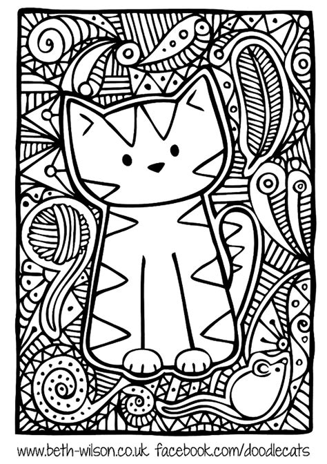 kitten coloring pages for adults free coloring page 171 coloring adult difficult cute cat